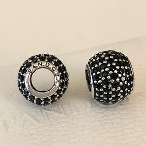 2 Pandora Black Pave Charms